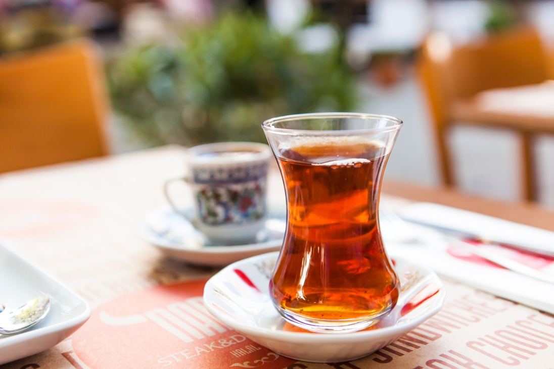 After our first meal in Istanbul, we had to try the local Turkish tea and coffee!