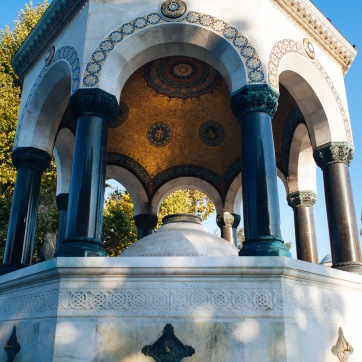 The German Fountain in Sultanahmet square.